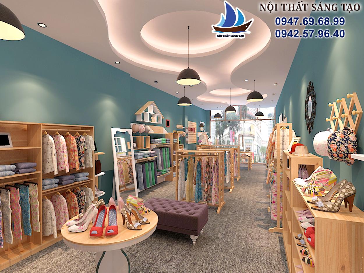 thiết kế cửa hàng thời trang trọn gói