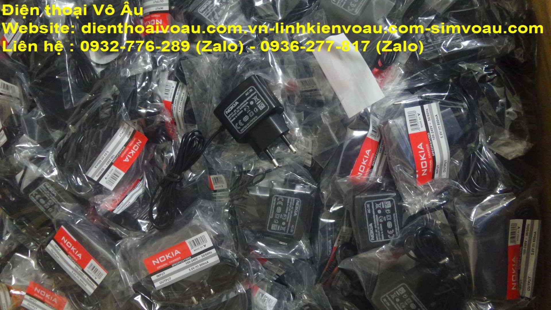 Điện thoại Vô Âu-Chuyên cung cấp sạc nokia chuôi nhỏ,lớn,samsung 8600,j7,sạc motorola V3,sạc sony cổ - 2